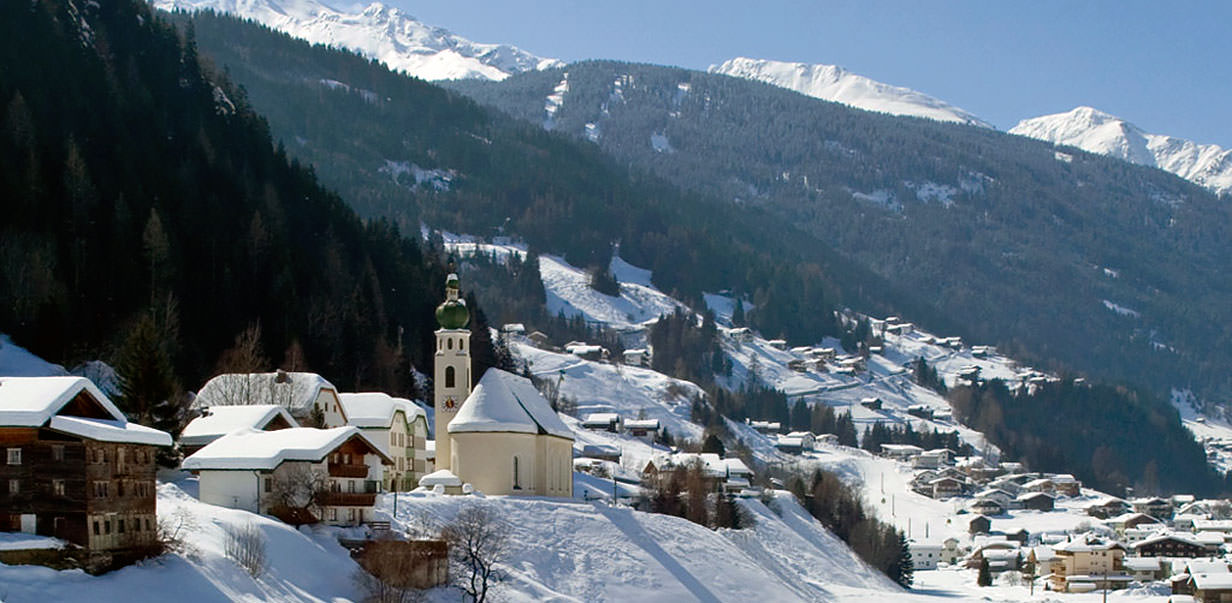 Winter in See in Tyrol - Austria